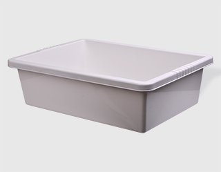 k102 - White plastic trough