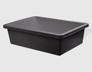 k101 - Black plastic trough 50l