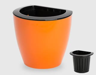 592 - Flowerpot Lala wall-mount with separator